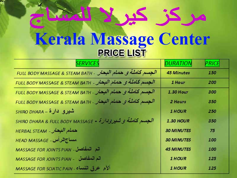 Kerala Massage Center  in Qatar
